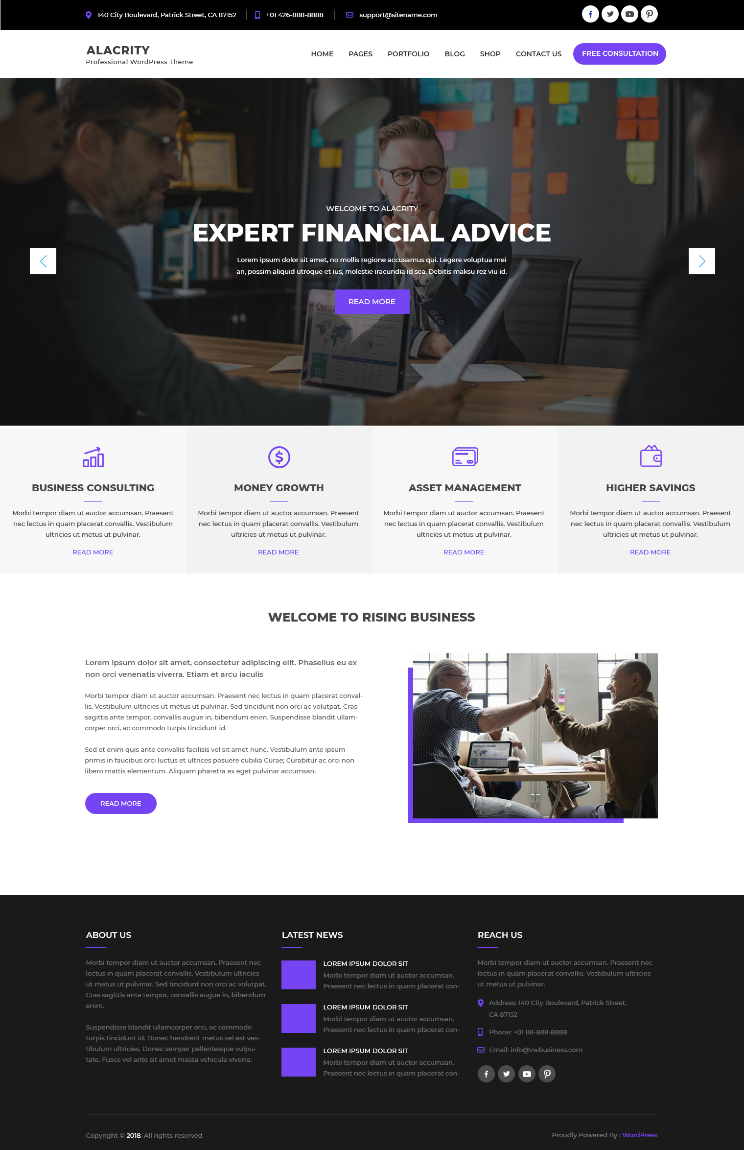 free-finance-wordpress-theme